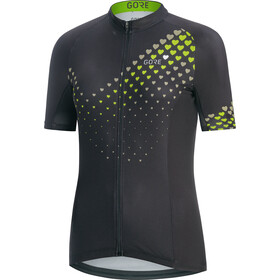 GORE WEAR C3 Heart Cykeltrøje Damer, black/citrus green